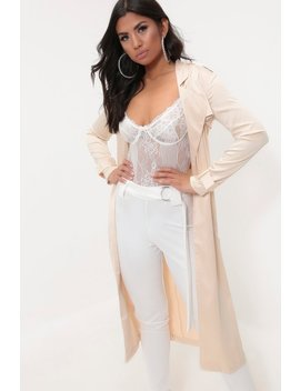 Champagne Satin Duster Jacket by I Saw It First