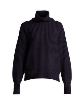 Ribbed Roll Neck Sweater by Joseph