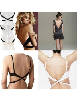 New Fashion Style  Women Low Back Bra Strap Adjustable Bra Strap Hook Converter Extender by Favolook