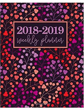 2018 2019 Weekly Planner: Portable Format 7.5x9.25 (19x23cm): August 1, 2018 To December 31, 2019: 17 Months: Lavender Purple, Blush Peach, Hot Pink Modern Florals 7603 (Planners Gonna Plan) by Papeterie Bleu