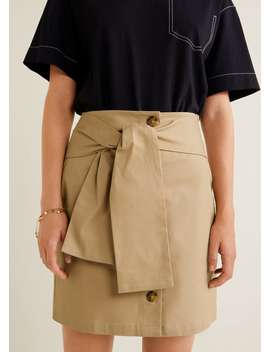 Bow Cotton Skirt by Mango
