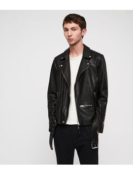 Wick Leather Biker Jacket by Allsaints