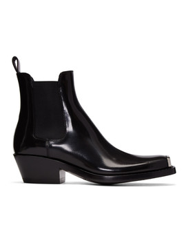 Bottes Chelsea Noires Western by Calvin Klein 205 W39 Nyc