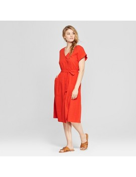 Women's V Neck Sundress  Universal Thread™ Orange by Shop All Universal Thread™