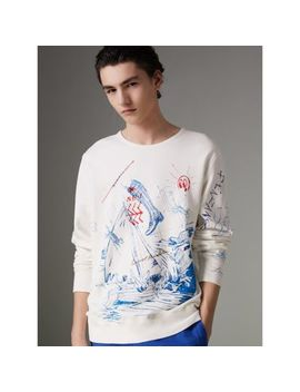 Adventure Print Cotton Sweatshirt by Burberry