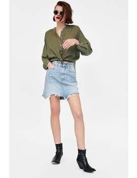 Falda Mini Denim Rotos  Ver Todo Faldas Mujer by Zara