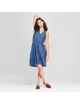 Women's Denim Wrap Dress   Universal Thread™ Medium Wash by Shop All Universal Thread™
