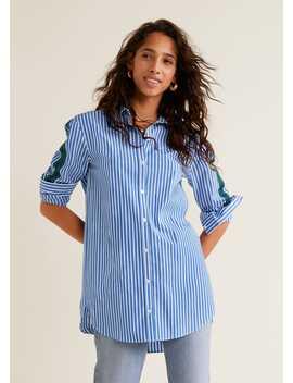 Decorative Trims Striped Shirt by Mango