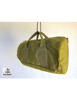 Military Canvas Weekender Duffle Bag by The Wilde Merchant