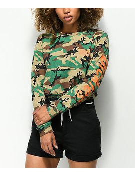 Dickies Genuine Logo Camo Long Sleeve T Shirt by Dickies