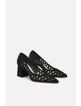 Printed Leather Court Shoe  Leather Woman Shoes by Zara