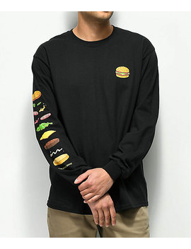 Bob's Burgers X Habitat Expanded Burger Black Long Sleeve T Shirt by Habitat