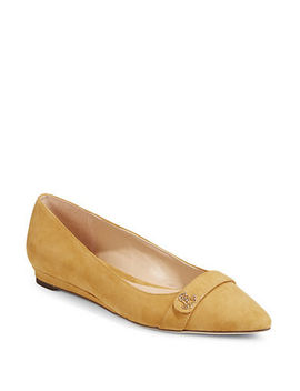 suede-point-toe-flats by lauren-ralph-lauren