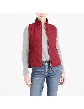Ruffle Quilted Puffer Vest by J.Crew