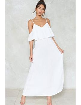 Relaxed To The Maxi Cold Shoulder Dress by Nasty Gal