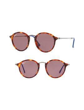 49mm Polarized Round Sunglasses by Ray Ban