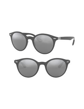 Phantos 50mm Mirrored Sunglasses by Ray Ban