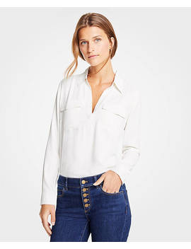 Slim Camp Shirt by Ann Taylor