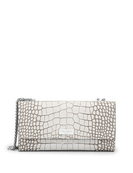 Uptown Out & About Croco Organizer Wallet On A Chain by Henri Bendel