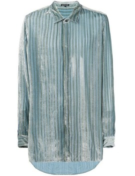 Ann Demeulemeesterstripe Fitted Shirthome Men Ann Demeulemeester Clothing Shirts by Ann Demeulemeester