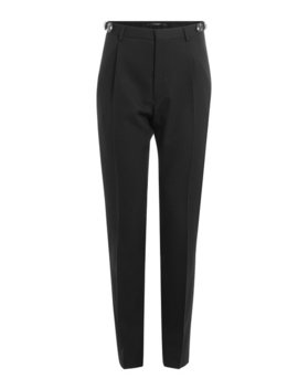 Wool Pants With Embellished Buckles by Valentino