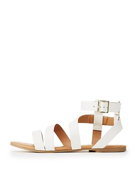 Qupid Strappy Ankle Wrap Sandals by Charlotte Russe