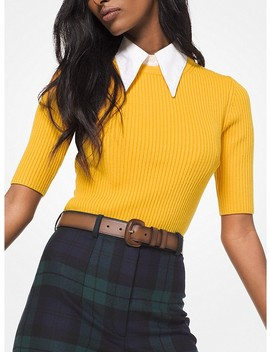 Cashmere Blend Ribbed Pullover by Michael Kors Collection