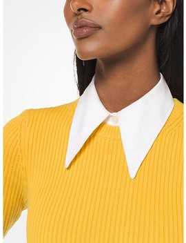 Stretch Cotton Poplin Dickey by Michael Kors Collection