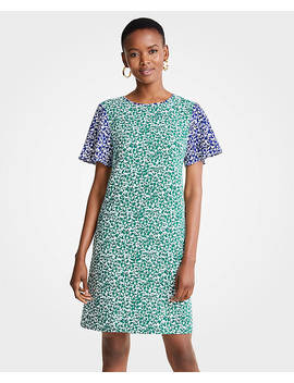 Mixed Floral Shift Dress by Ann Taylor