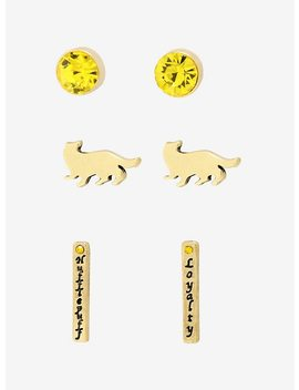 Harry Potter Hufflepuff Earring Set by Hot Topic