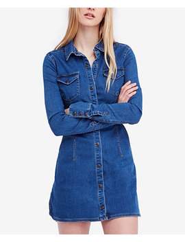 Dynomite In Denim Long Sleeve Mini Dress by Free People