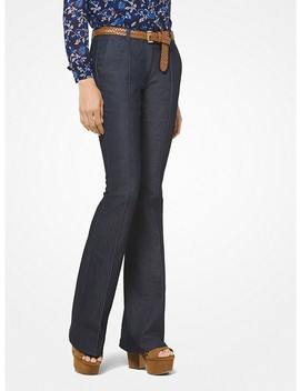 Pleated Denim Flares by Michael Michael Kors