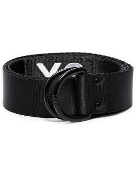 Y 3black Logo Embroidered Belthome Men Y 3 Accessories Belts by Y 3