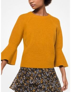 Wool Bell Cuff Pullover by Michael Kors