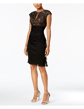 Ruched Lace Sheath Dress by B&A By Betsy & Adam