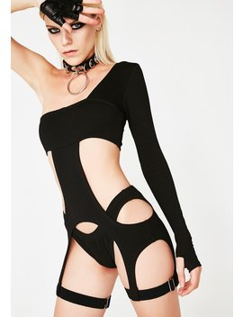 Obscura Inferno Cut Out Bodysuit by Club Exx