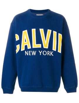 Calvin Klein Jeanslogo Print Sweatshirt Home Men Calvin Klein Jeans Clothing Sweatshirtsrunning Sneakersdenim Shorts Logo Print Sweatshirt by Calvin Klein Jeans