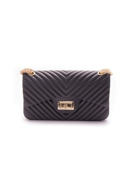 Eloise Black Quilted Cross Body Bag by Missy Empire