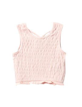 Sleeveless Smocked Tank Top (Big Girls) by Maddie
