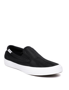 Converse Men Black Slip On Sneakers by Converse