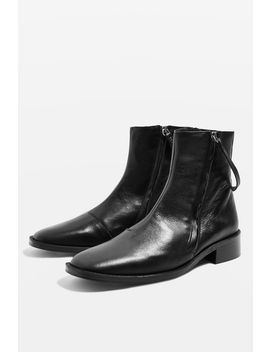 Aubrey Flat Leather Boots by Topshop