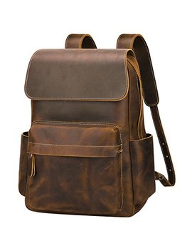 S Zone Casual Crazy Horse Real Genuine Leather Backpack Fashion Bag Daypack by S Zone