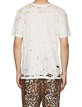 Elliot Distressed Cotton T Shirt by Nsf