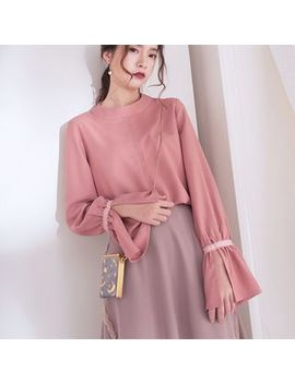 Bell Sleeve Chiffon Top by Cotre