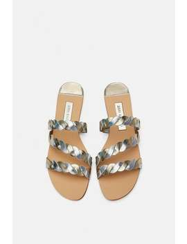 Shiny Braided Sandals  View All Shoes Woman by Zara
