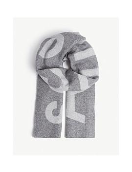 Logo Print Wool Scarf by Acne Studios