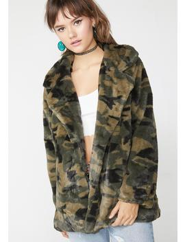 Anything Goes Camo Coat by Miley And Molly