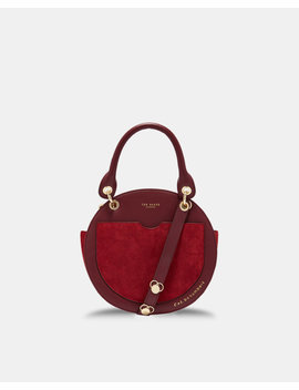 Leather Circular Bag by Ted Baker