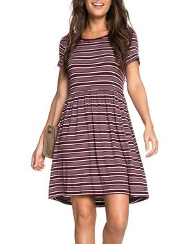 Fame For Glory Stripe T Shirt Dress by Roxy