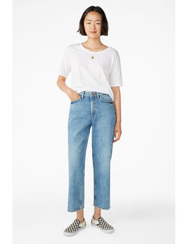 Mozik Mid Blue Jeans by Monki